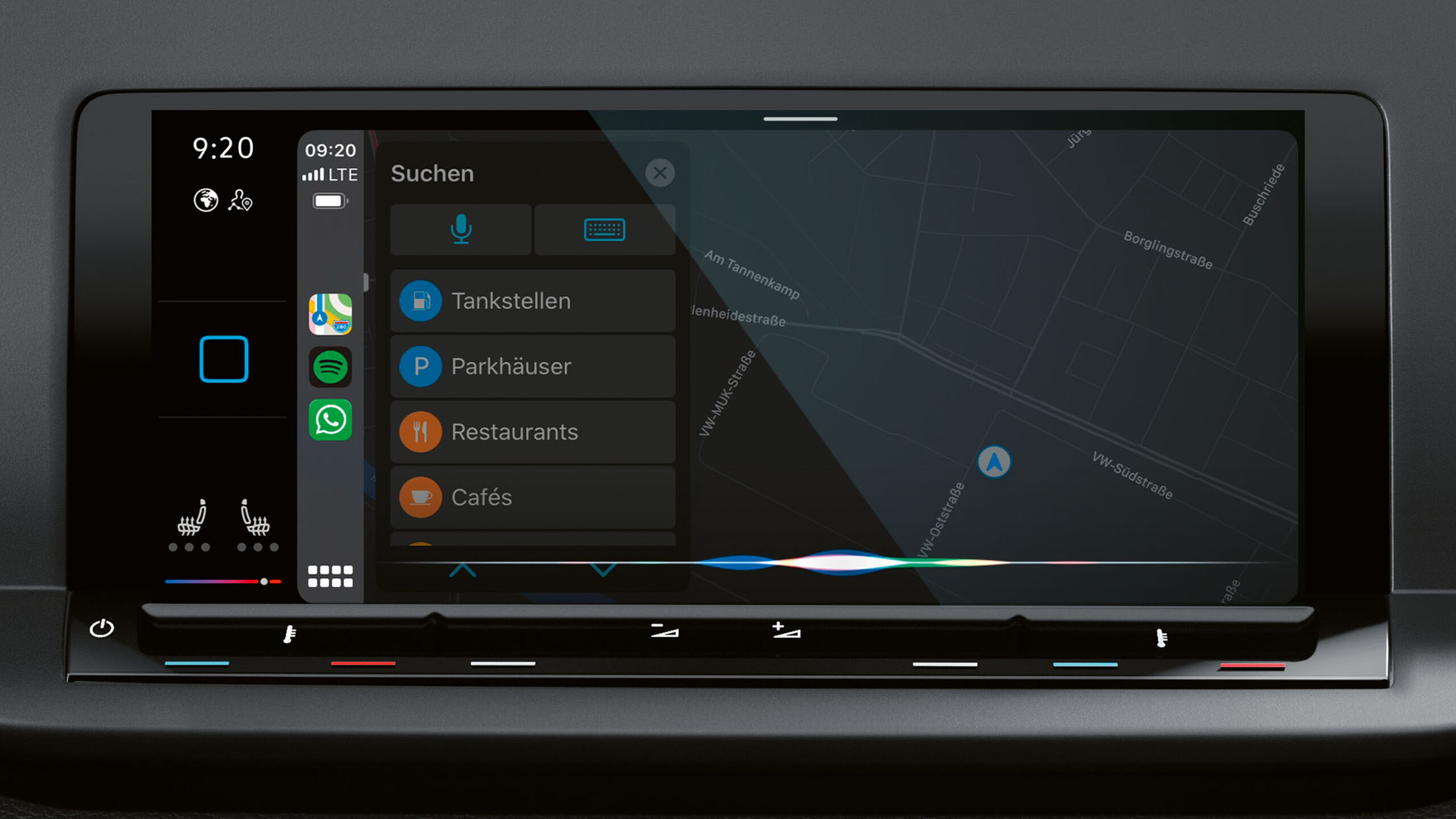 Das Navigationssystem Discover Pro in einem VW Caddy.